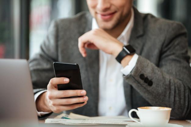 Businessman Using Finance Apps